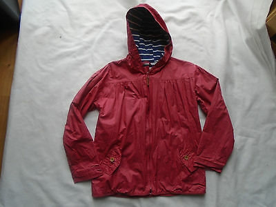 Fat Face Girls Pink Rain Mac Hooded Zip Coat Jacket 12-13 Years VGC