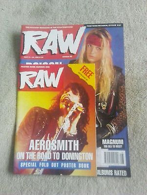 RAW classic Rock Magazine No.49 July 1990 with poster book