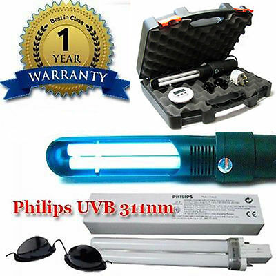 UVB NarrowBand LAMP 311nm PSORIASIS & VITILIGO with Philips Bulb phototherapy