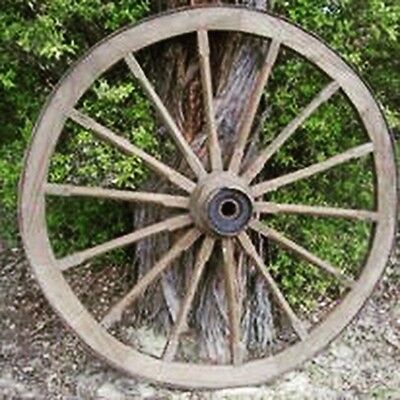 Old Vintage Genuine Large Wooden Wagon Wheel Multiple