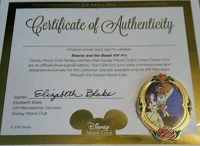 Beauty and the Beast ~ Belle and Beast 2016 Disney VIP Exclusive Pin w/COA ~NEW