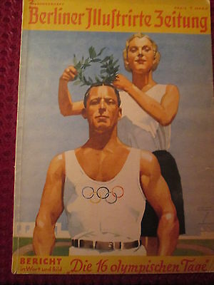 Top Cover Ludwig Hohlwein Jeux Olympiques 1936/olympische Spiele Olympic Games