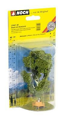 Noch Birch Tree with Circular Bench 21642 (HO Scale suit OO also)