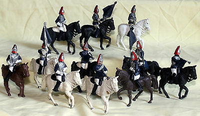 britains british household cavalry ceremonial 1970's   plastic toy soldiers