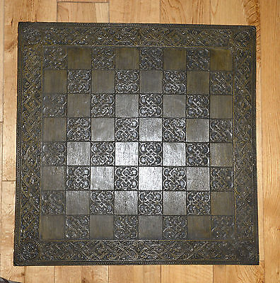 Large ornate chess board 24 inches square, in good condition,
