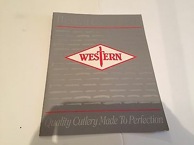 1991 western cutlery product catalog 9 pages