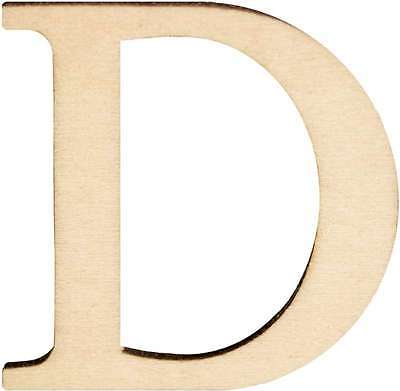Wood Letters & Numbers 1-1/2 Inch 2/Pkg-D 046308143032