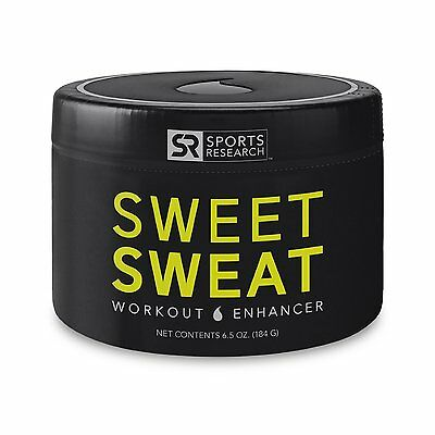 Sports Research SWEET SWEAT 6.5 oz Jar Workout Enhancer Sweet Sweat Skin Cream