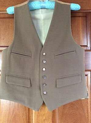 """Mens Vintage All Wool Camel Waistcoat Lined Size 36-38"""""""