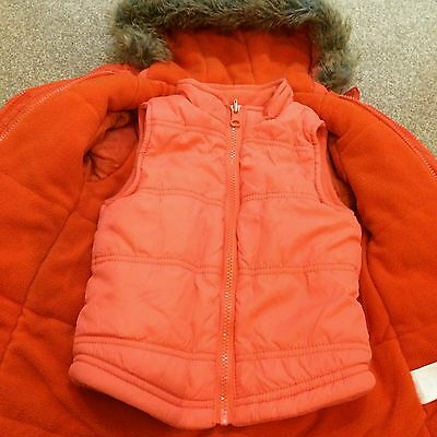 winter coat and a vest for a girl age 3 vertbaudet