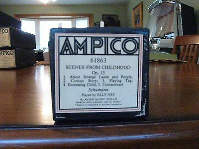 Scenes From Childhood Schumann Ampico Re-Cut Piano Roll