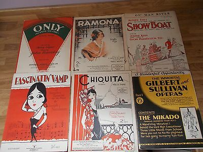 Selection of Sheet Music with Artwork