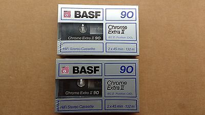 BASF Chrome extra II blank audio cassette tapes New Sealed