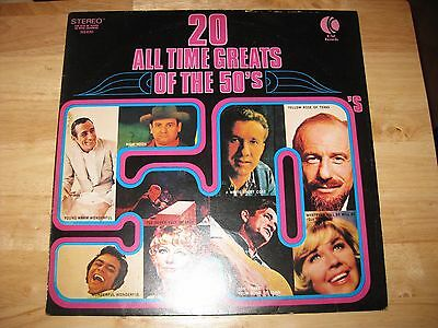 K-Tel Records - 20 All Time Greats Of The 50's: Vinyl LP