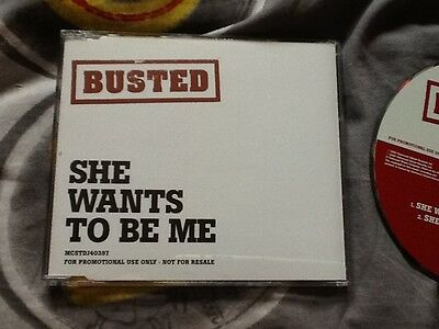 Rare BUSTED She Wants to be Me promotional CD McBUSTED MATT Charlie James mcFly