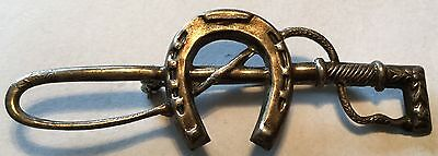 Fox Hunt Hunting Horse Shoe and Crop Sterling Silver Stock Pin #2