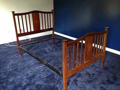Antique Double Bed - Made By Vono - Possibly Edwardian