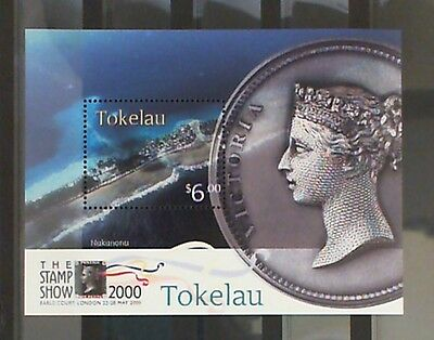 Tokelau 2000 The Stamp Show London 2000 M/S mnh+3 cto(each atoll) SGMS308