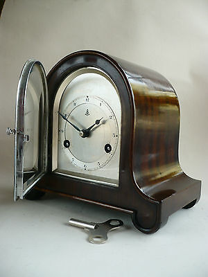 Rare Vintage Small Art Deco Gustav Becker German Eight Day Mantel Clock Gwo Xmas
