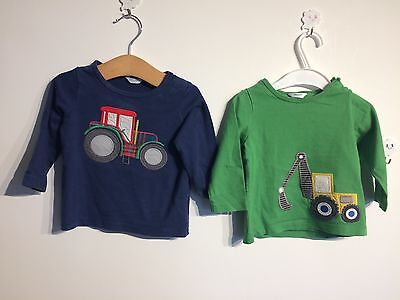 Mini Boden boys long sleeved tops Tractor Farm Digger 6-12 months