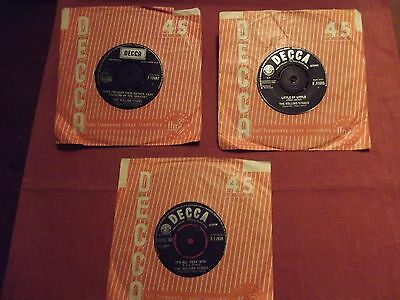 The Rolling Stones 3 x 45's singles from 1960's 'It's all over now' etc