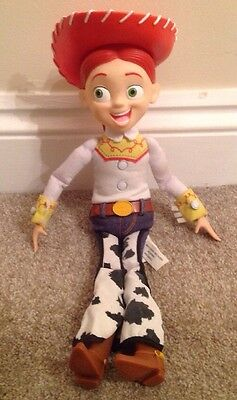 Disney Pixar Toy Story Talking Jessie Doll And Hat  14.5 inch tall