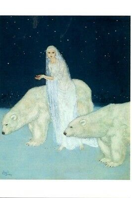 Edmund Du Lac The Ice Maiden Dulwich Picture Gallery modern postcard