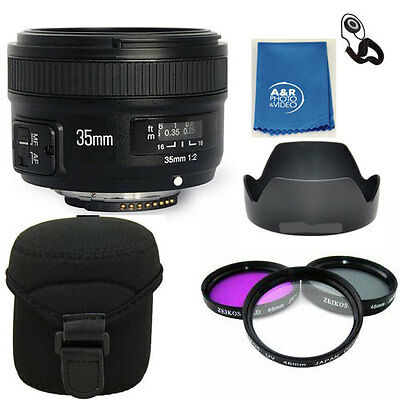Yongnuo  35mm F2 N Wide Angle Fixed Prime Auto Focus Lens Nikon YN35mm PRO KIT