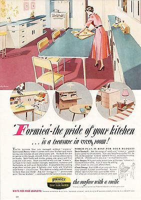 Formica Plastic Laminate Sheet Pride Of Your Kitchen Surface 1954 Vintage Advert