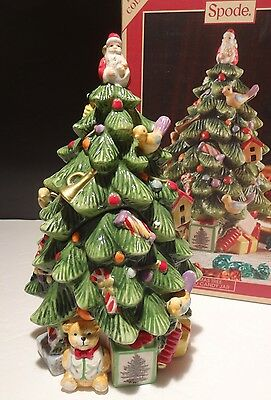 """New In Box Spode Christmas Tree 9"""" Candy Jar ~ Retail $80"""