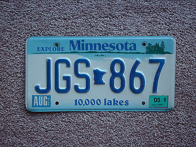 Excellent 2005 Minnesota MN license plate