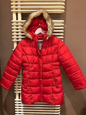 Debenhams Girls Red Warm Padded Winter coat With Hood  age 8-9 Y