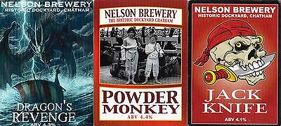 Three Beer Pump Clips From Nelson Brewery