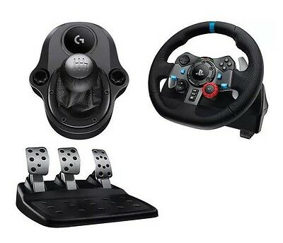 Driving Force G29 - PS4 PS3 & PC - Racing Wheel Pedals Shifter Bundle - New