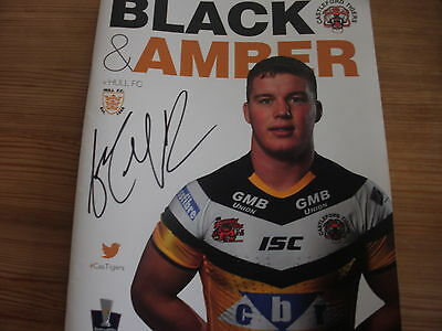 Castleford Tigers v Hull FC Rugby League Programme  2014 , Autographed
