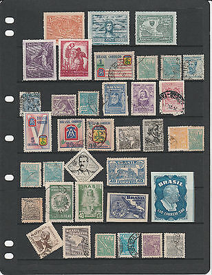 BRAZIL 1940s collection (2 scans) many better stamps noted Mint/Used