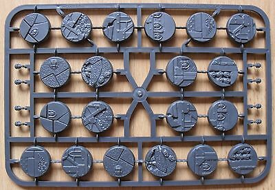 WARHAMMER 40K GAMES WORKSHOP - SECTOR IMPERIALIS 25mm ROUND BASES x 20 - NEW