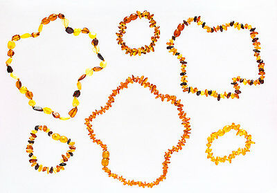 genuine baltic amber/succinic acid baby bracelet and necklace hand made
