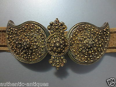 WOW! Antique OTTOMAN SILVER FILIGREE + GILDED Belt BUCKLE 19th Century EXCELLENT