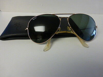 Vintage Ray Ban Aviator Sunglasses with Soft Case