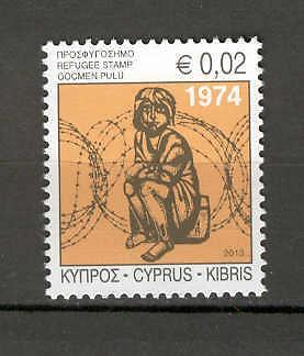 Cyprus 2013 Special Refugees Fund Stamp MNH