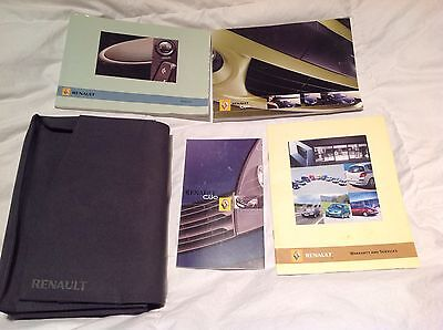 Renault Clio Owners Manual Pack 06/2005 English Edition