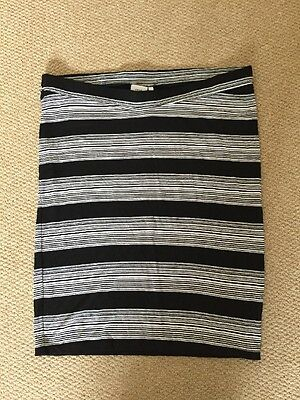 NEXT Maternity Black/white Stripe Jersey Skirt Size 10/12