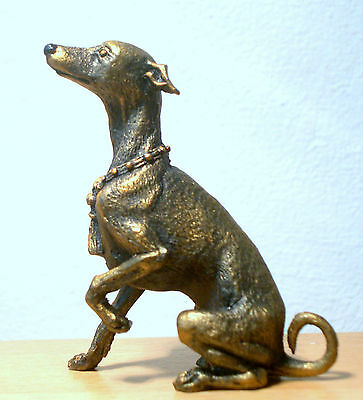 Hand Made Collectable Miniature Pewter Greyhound Dog Figurine
