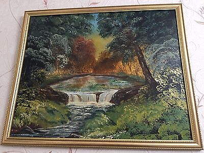 Original Oil Painting On Board, Signed By Artist