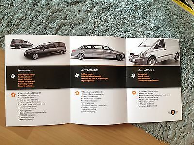 Binz  Mercedes Hearse Removal Vehicle.limo  Brochure         Rare Item