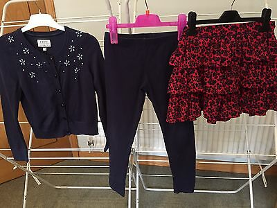 Girls Jasper Conran Outfit Cardigan Leggings Skirt age 9 -10 Years  3 Items !