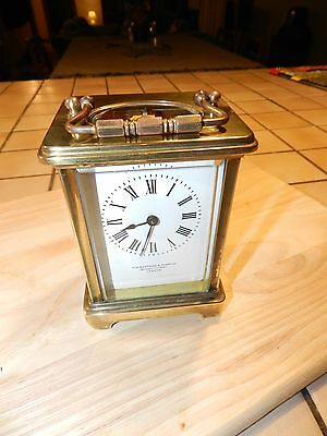 Antique Brass Carriage Clock  H.W.Bedford, London.