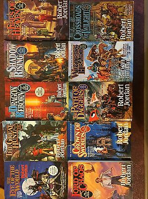 The Wheel Of Time - Collection- Paperback '90s Books #1-10 -Very Good Condition