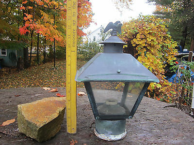 Vintage Copper  Porch Light Sconce Fixture Eagle Finial Exterior Or Post Light